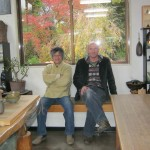 Paul with Chiyoichi san in his gallery in Tanbatachikui, November 2012