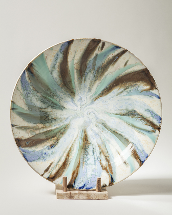 "17"" Crystal Dish, Paul Tebble"