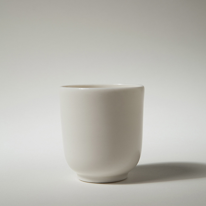 Porcelain Cup, Paul Tebble.