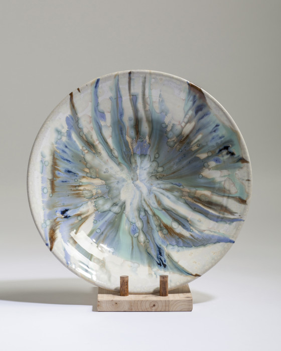 Crystal Dish, Paul Tebble  (34cm)